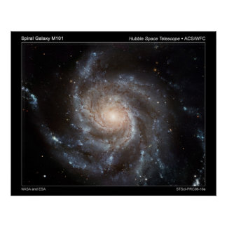 Spiral Galaxy M101 Posters