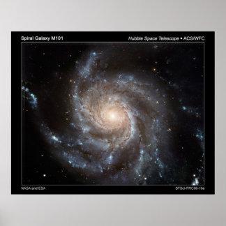 Spiral Galaxy M101 Poster