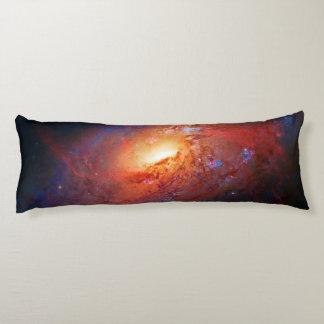 Spiral Galaxy M106 in Canes Venatici Body Pillow