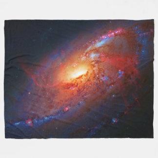 Spiral Galaxy M106 in Canes Venatici Fleece Blanket