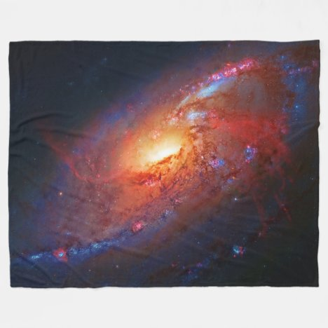 Spiral Galaxy M106 in Canes Venatici Fleece Blanket