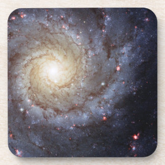 Spiral Galaxy M74 Hubble Beverage Coasters