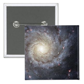 Spiral galaxy M74 Pinback Button
