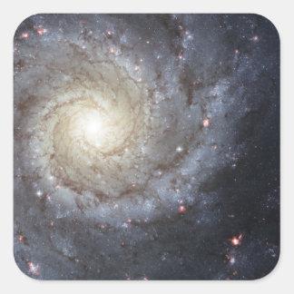 Spiral galaxy M74 Square Sticker