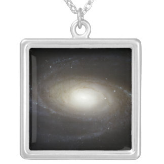 Spiral Galaxy M81 Silver Plated Necklace