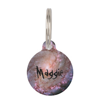 Spiral Galaxy M83 Pet Name Tag