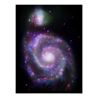 Spiral Galaxy M-51 Posters