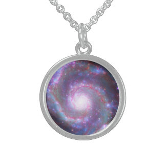 Spiral Galaxy M-51 Sterling Silver Necklace