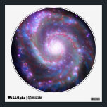 """Spiral Galaxy M-51 Wall Sticker<br><div class=""""desc"""">Welcome to SPACE HQ! We are open and our showroom is out of this world. Do a favor for your family and friends and give them our link: http://www.zazzle.com/SpaceHQ?rf=238549869542096443* At 30 million light years from Earth, Messier 51 is probably too far away for a short trip. You would probably need...</div>"""