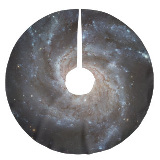Spiral Galaxy Messier 101 Brushed Polyester Tree Skirt