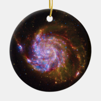 Spiral Galaxy Messier 101 Ceramic Ornament
