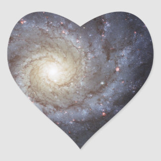 Spiral Galaxy Messier 74 NGC 628 Heart Sticker