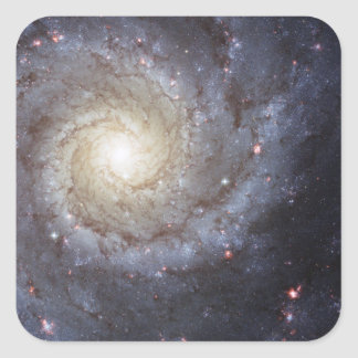 Spiral Galaxy Messier 74 NGC 628 Square Sticker