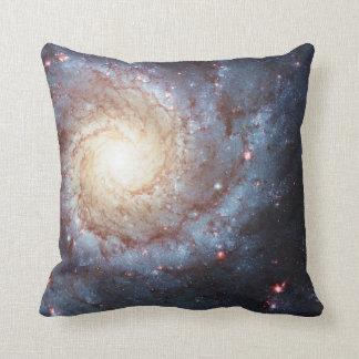 Spiral Galaxy Messier 74 Space Photo Galactic Throw Pillow