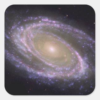 Spiral galaxy Messier 81 Square Sticker