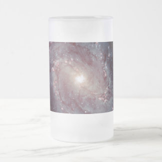 Spiral Galaxy Messier 83 Frosted Glass Beer Mug