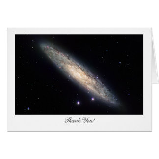 Spiral Galaxy NGC253 - Saying Thank You Card