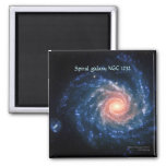 Spiral galaxy NGC 1232 2 Inch Square Magnet