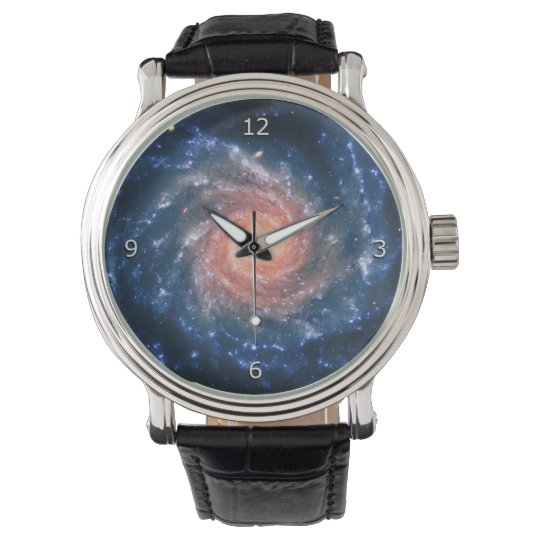 Spiral Galaxy NGC 1232, astronomy space picture Wrist Watch