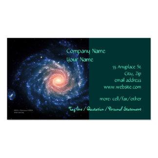 Spiral galaxy NGC 1232 - business card template