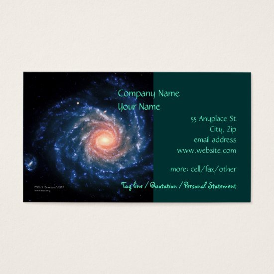 Spiral galaxy NGC 1232 - business card template