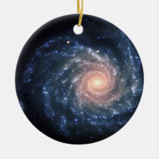 Spiral galaxy NGC 1232 Ceramic Ornament