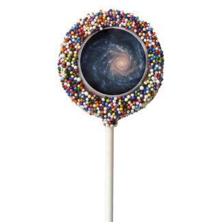 Spiral galaxy NGC 1232 Chocolate Dipped Oreo Pop