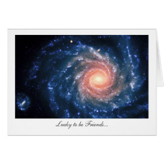 Spiral galaxy NGC 1232 - Lucky to be Friends Greeting Card