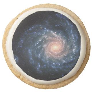 Spiral galaxy NGC 1232 Round Shortbread Cookie