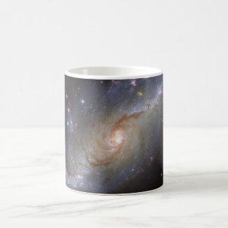 Spiral Galaxy NGC 1672 by the Hubble Telescope Classic White Coffee Mug
