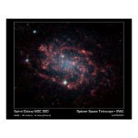 Spiral Galaxy NGC 300 – Spitzer Space Telescope Poster