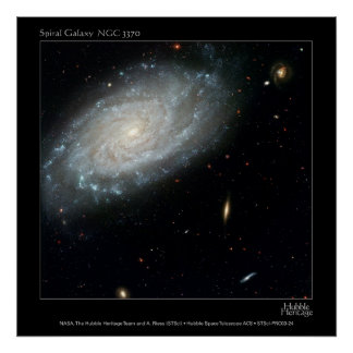 Spiral Galaxy NGC 3370 Posters