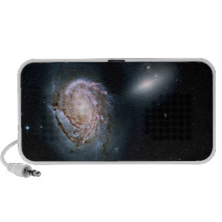 Spiral Galaxy NGC 4911 in the Coma Cluster Travelling Speaker
