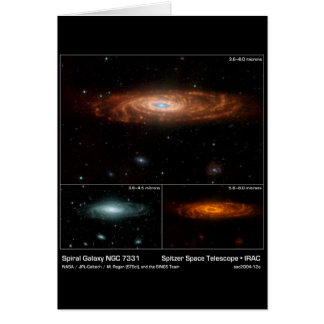 Spiral Galaxy NGC 7331 - – Spitzer Space Telescope Card