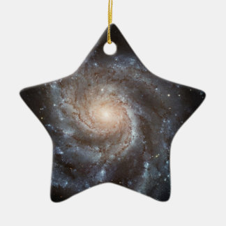 Spiral galaxy Double-Sided star ceramic christmas ornament