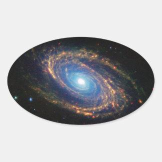 Spiral Galaxy Oval Sticker