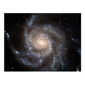 Spiral galaxy postcards