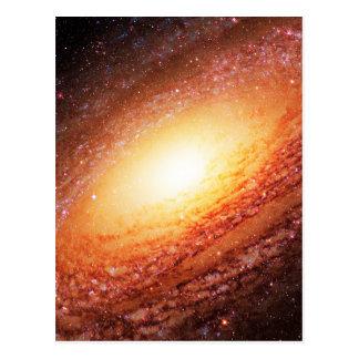 Spiral galaxy postcard