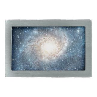 Spiral galaxy rectangular belt buckle