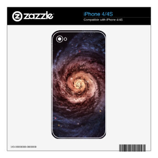 Spiral galaxy skin for the iPhone 4