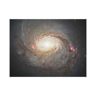 Spiral Galaxy Space Universe Stars Black Hole Sky Canvas Print
