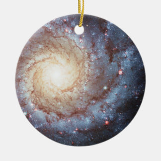 Spiral Galaxy Stars Messier74 Space Photo Ornament