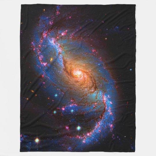 SPACE GALAXY PLUSH FLEECE GLOW IN THE DARK STARS 50x60 Throw Blanket