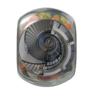 Spiral Glass Jars