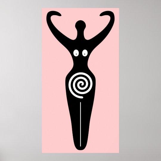Spiral Goddess Sacred Feminine Poster