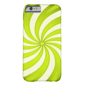 Spiral Golden Candy Cane Barely There iPhone 6 Case