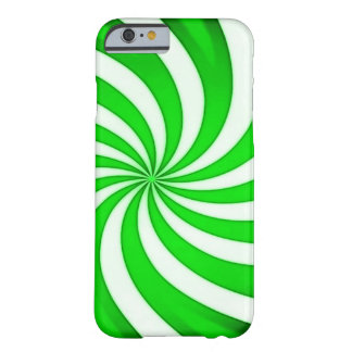 Spiral Green Candy Cane Barely There iPhone 6 Case