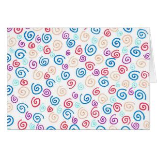 Spiral greeting card (aqua/peach/ocean)