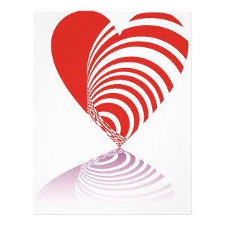 Spiral Hearts Letterhead Template