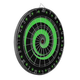 Spiral Hypnotic Green Wheel Regulation Dart Board
